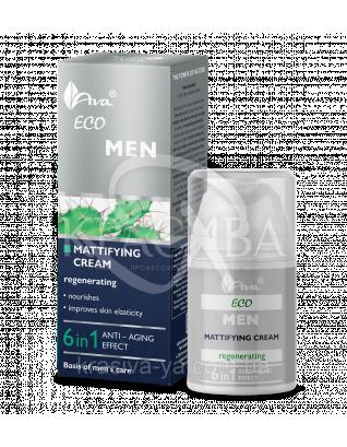 Матирующий и регенерирующий крем 6 в1 ECO Men Mattifying Cream 6in1, 50 мл