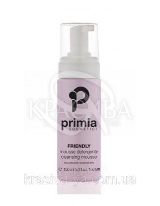Friendly Cleansing Mousse-Sensitive Skin - Очищаючий мус для чутливої шкіри, 150 мл : Primia Cosmetici