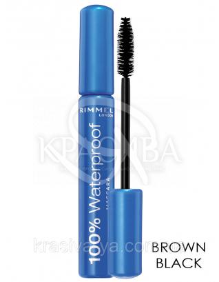 RM 100% Waterproof Mascara - Тушь для ресниц (02- Brown Black / темно коричневый), 8 мл : Макияж для глаз