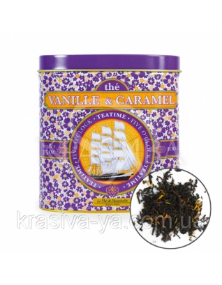 TdO Огранический черный чай с ароматом ванили и карамели / Vanilla & Caramel Flavoured Black Tea, 100 г : Органический чай