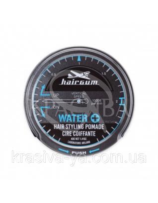 Hairgum Water + Hair Styling Pomade Помада для стайлинга на водяной основе с цитрусовым ароматом,  40 г : Средства для стайлинга