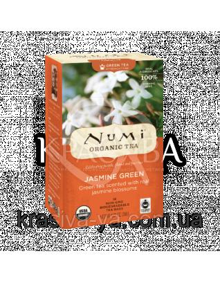 """NUMI Зеленый чай """" Зеленый жасмин """" / Jasmine Green, 18 пакетиков : Органический чай"""