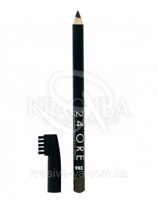 """Стойкий косметический карандаш для бровей """"24 Ore Eyebrow Pencil"""" 286 Dark Chocolate, 1.5 г : Карандаш для бровей"""