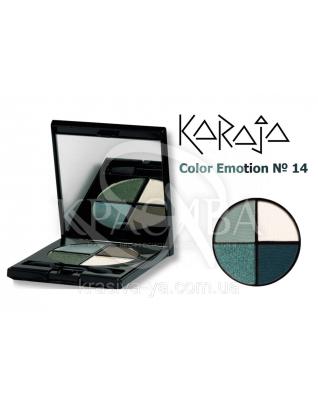 Karaja Тіні для повік кватро Color Emotion 14, 6 р