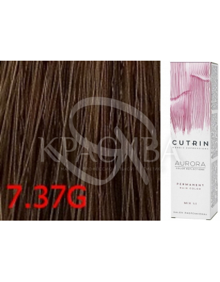 Cutrin Aurora Permanent Color - Аммиачная краска для волос 7.37G Средне-золотое дерево, 60 мл