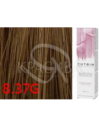 Cutrin Aurora Permanent Color - Аммиачная краска для волос 8.37G Светло-золотое дерево, 60 мл