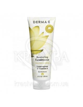 Відновлюючий кондиціонер з маслом лемонрасса і вітаміном Е Volume&Shine Restoring Conditioner, 236 мл : Derma E