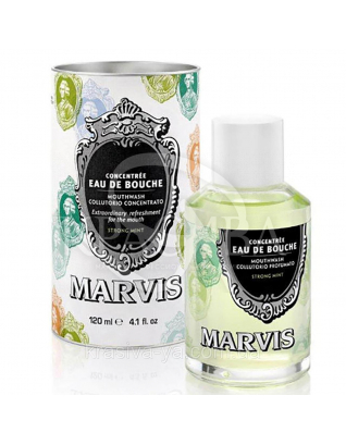 Ополіскувач для порожнини рота Інтенсивна м'ята Marvis Mouthwash Strong Mint, 120 мл : Marvis