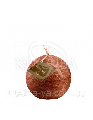 Свічка ароматерапевтична великий шар d 120 - Кориця (Коричневий), 765 г : Декор для дому