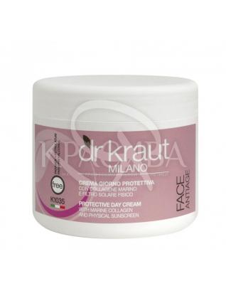 Dr.Kraut Protective Day Cream - Захисний днеаной крем з морським колагеном і SPF 90, 500 мл :