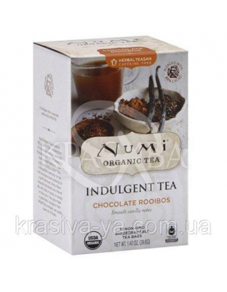 "NUMI Травяной тизан "" Шоколад и ройбуш "" / Chocolate Rooibos, 12 пакетиков : Травяной чай"