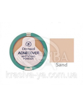 DC Make-up Acnecover Mattifying Powder 03 Sand Пудра компактна основа для проблемної шкіри, 11 г : Пудра для обличчя
