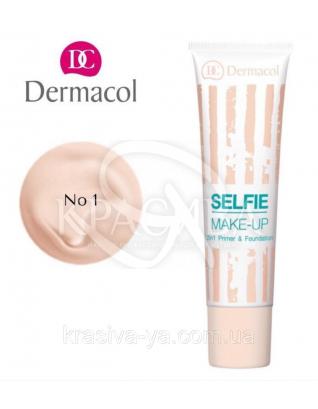 DC Make-up Selfie Primer & Foundation 01 Тональний крем + база 2в1, 25 мл :