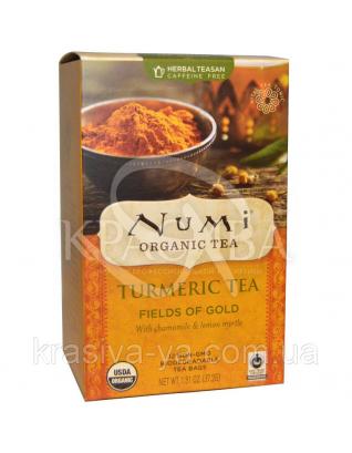 """NUMI Травяной тизан """" Золотые поля """" / Herbal Teasan """" Fields of Gold """", 18 пакетиков : Травяной чай"""