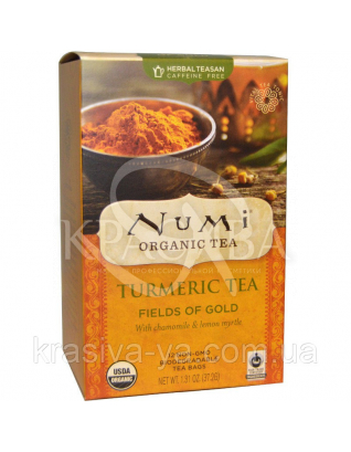 "NUMI Трав'яний тизан ""Золоті поля"" / Herbal Teasan "" Fields of Gold "", 18 пакетиків : Numi"