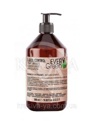EG Energizzante Shampoo-Шампунь проти випадіння волосся з маслом жожоба, екстракт женьшеню, 500 мл