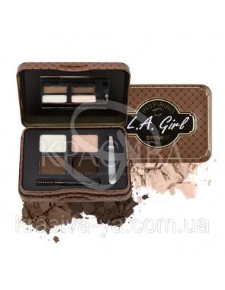 L.A.Girl GES 343 Inspiring Brow Kin Dark and Defined - Набор для коррекции и макияжа бровей, 3.7 г : Beauty-наборы для макияжа