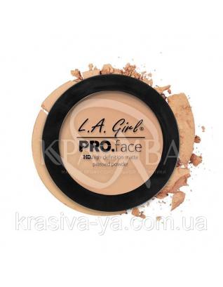 L.A.Girl GPP 606 Pro Face Pressed Powder Buff - Матовая пудра для лица, 7 г : Пудра для лица