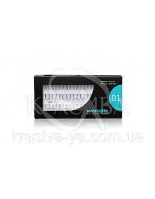 Individual eyelashes, short - Індивідуальні (вузлові) вії короткі, 60 шт. в упаковці : Nastelle