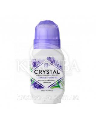 Crystal Essence Deodorant Lavender & White Tea Roll-on - Роликовий дезодорант (лаванда і зелений чай), 66 мл : Дезодоранти