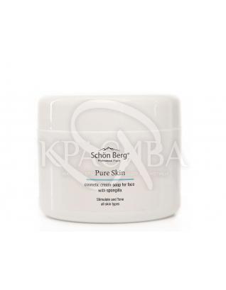 Косметическое крем-мыло для умывания с речной губкой : Крем для умывания