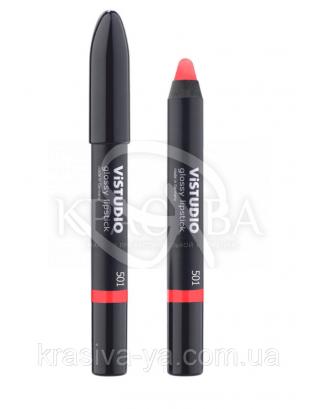Vistudio Glossy Lipstick - Помада-карандаш-блеск для губ 501, 12 г : Vistudio