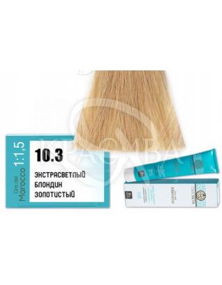Barex Olioseta ODM-Крем-краска безаммиачная с маслом арганы 10.3 Экстра светлый блондин золотистый, 100 мл :