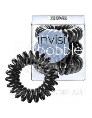 Резинка для волос черная,3 шт : Заколки и резинки