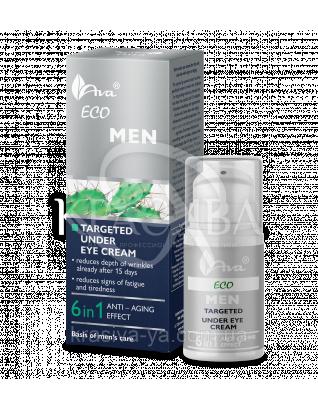 Крем для зоны вокруг глаз 6 в1 ECO Men Targeted Nuder eye 6in1, 15 мл
