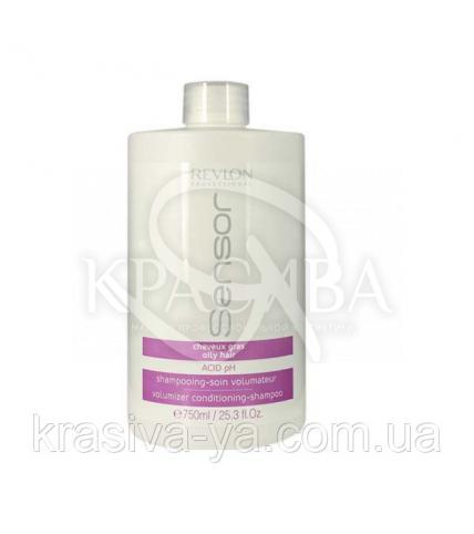 Шампунь-кондиціонер об'єм волосся для жирної шкіри голови, 750мл - 1