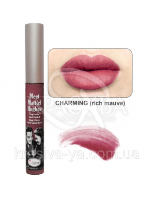 The Balm Meet Matte Hughes Charming-Rich Mauve - Рідка матова помада, 7.4 мл : TheBalm