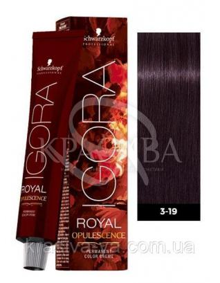 Igora Royal Opulescence Краска для волос 3.19 Темно-коричневый сандре фиолетовый, 60 мл : Аммиачная краска