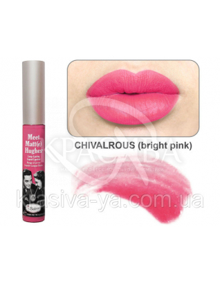 The Balm Meet Matte Hughes Chivalrous-Bright Pink - Рідка матова помада, 7.4 мл : TheBalm