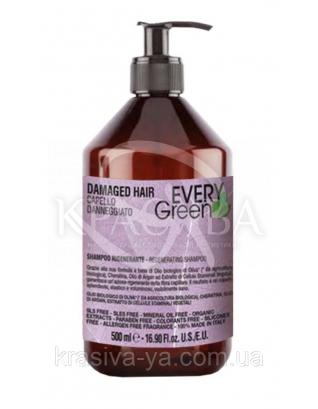EG Damager Shampoo Rigenerante - Шампунь для відновлення волосся з маслами і стовбуровими клітинами, 500 мл :