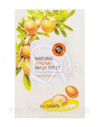 "The Saem Natural Sheet - Тканинна маска з натуральним екстрактом ""Арган"", 20 мл : The Saem"