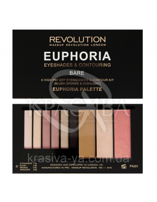 MUR Euphoria Palette - Палетка тіней і контурирующие кошти (Bare) : Makeup Revolution