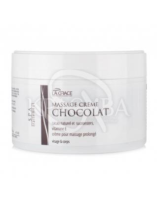 Крем массажный с шоколадом для лица и тела La Grace, 200 мл