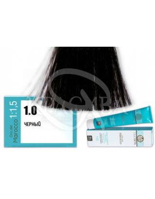 Barex Olioseta ODM - Крем-краска безаммиачная с маслом арганы 1.0 Черный, 100 мл :