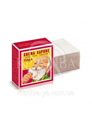 Профессиональное крем-мыло с запахом миндаля (на 300 сеансов бритья) Shavins Cream Soap, 1000 г : CELLA Milano