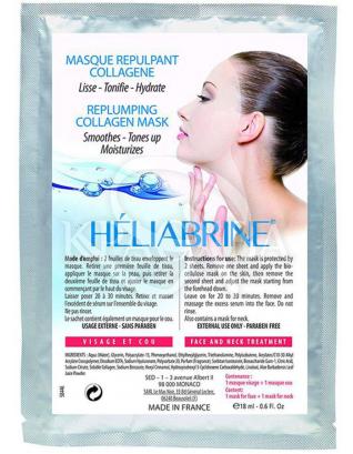 Биоцеллюлозная маска-заполнитель морщин для лица и шеи : Heliabrine