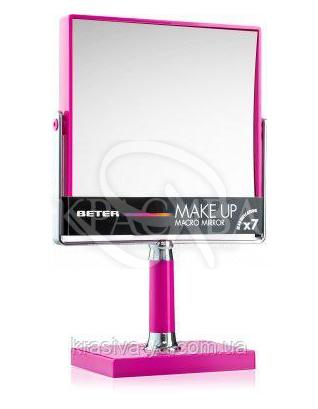 Beter Make Up Macro Mirror Зеркало на ножке двустороннее с Х7 увеличения, 14.5*14.5 см : Аксессуары