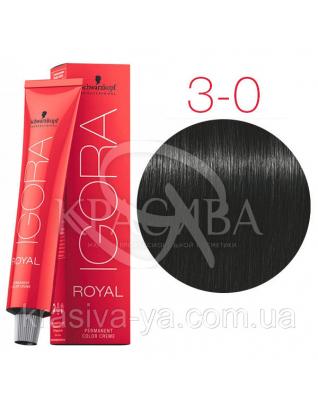 Igora Royal Senea - Крем-краска для волос без аммиака 3-0 Темный коричневый натуральный, 60 мл : Безаммиачная краска