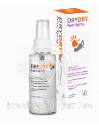 """Спрей-дезодорант для ног """"Драй Драй Фут Спрей"""" - """"DryDry Foot Spray"""" флакон, 100 мл : DryDry"""