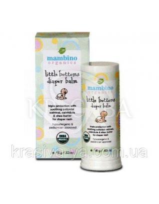 MAM Бальзам для дитячої попки / Little Bottoms Diaper Balm, 18 м : Mambino Organics