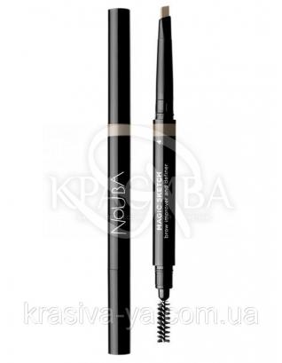 Автоматичний олівець для брів з щіткою Magic Sketch 4, 0.2 г : Nouba
