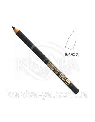 Олівець для очей Kajal Satin Pencil White, 1.5 м : Layla