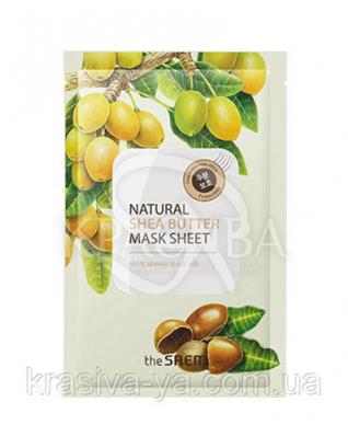 "The Saem Natural Sheet - Тканинна маска з натуральним екстрактом ""Масло Ши"", 20 мл : The Saem"