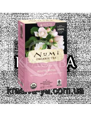 """NUMI Білий чай """"Біла троянда"""" / White Rose, 16 пакетиків : Numi"""