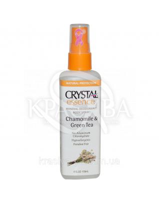 Crystal Essence Deodorant Chamomile & Green Tea Spray Спрей-дезодорант(ромашка і зелений чай), 118мл : Дезодоранти