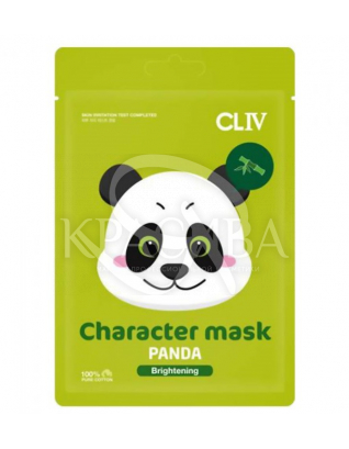 """Маска тканевая для сияния кожи лица """"Панда"""" : CLIV"""